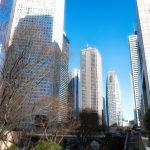新宿高層ビルの中でポートレート撮影