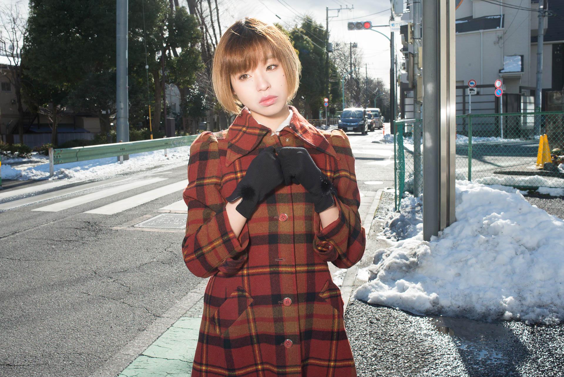 雪遊び×撮影=寒い