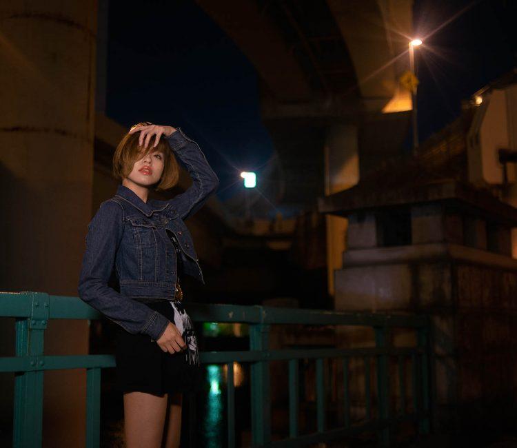 ポートレート 夜撮影 人物撮影
