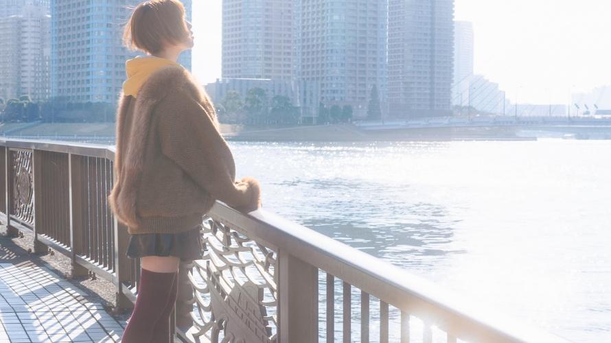 春を匂わす隅田川でポートレート♪【うずらフォト】