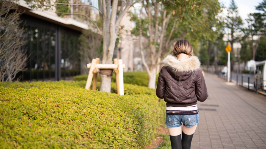 ポートレート 屋外 散步