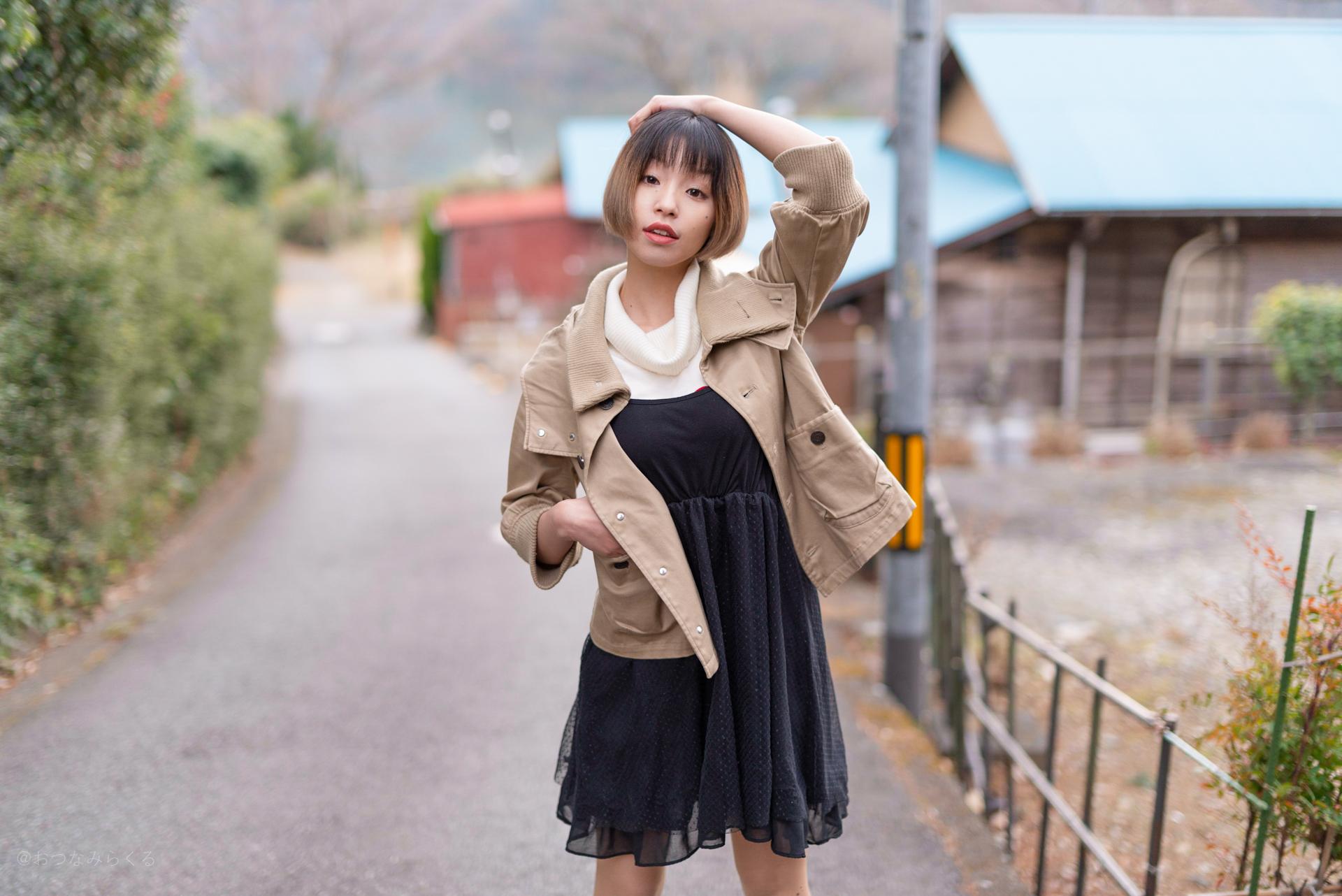 ポートレート ファッション お散歩