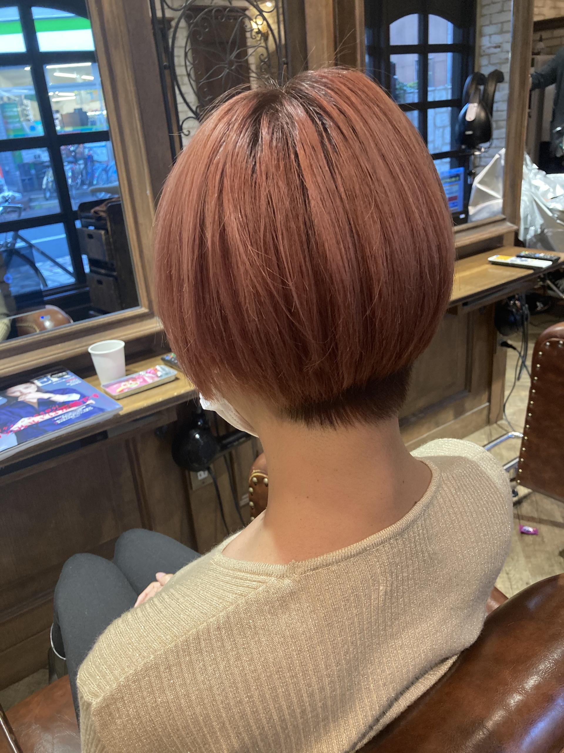ショートカット カラー ショートヘア
