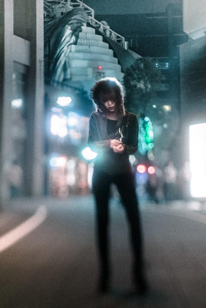 ナイトストリート ポートレート 夜間撮影